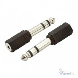 Adaptador P10 stereo (macho) x J2 stereo (Femea) PVC